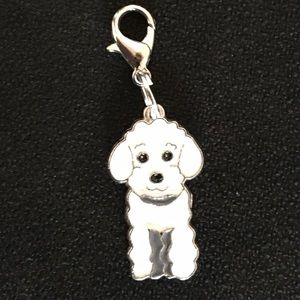 Jewelry - White poodle 🐩 clip charm